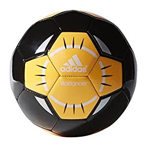 adidas Performance Starlancer IV Soccer Ball, Black/White/Solar Gold-Orange, 4