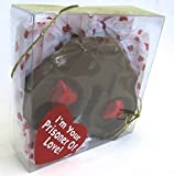 Easter Basket, Filler, I m Your Prisoner of Love, Handcuffs, Solid Milk Chocolate, Comes in an Attractive Clear Box with Ribbon