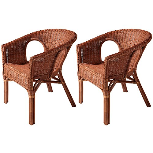 2x rattan sessel chris korbsessel korbweide stapelstuhl braun. Black Bedroom Furniture Sets. Home Design Ideas
