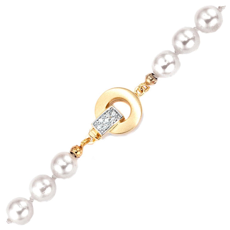 Damen Schließe 585 Gold Gelbgold teilrhodiniert teilmattiert 14 Diamanten Brillanten günstig online kaufen
