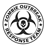 LARGE Zombie Outbreak Response Team with SKULL Vinyl Decal Sticker Wall Art Graphic (Black)