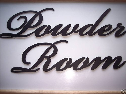 Powder Room Words Decorative Metal Wall Art