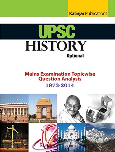 UPSC HISTORY OPTIONAL MAINS EXAMINATION TOPICWISE QUESTION ANALYSIS 9789351720645 available at Amazon for Rs.124
