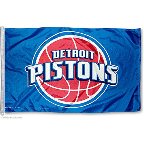 Detroit Pistons Official NBA 3ftx5ft Banner Flag by Wincraft