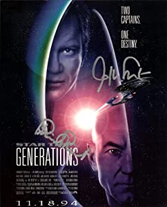 Star Trek Two Captains One Destiny Cast Signed Autographed 8 X 10 RP Photo - Kirk - Picard - Mint Condition