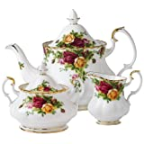 Three Piece Old Country Roses Tea Set