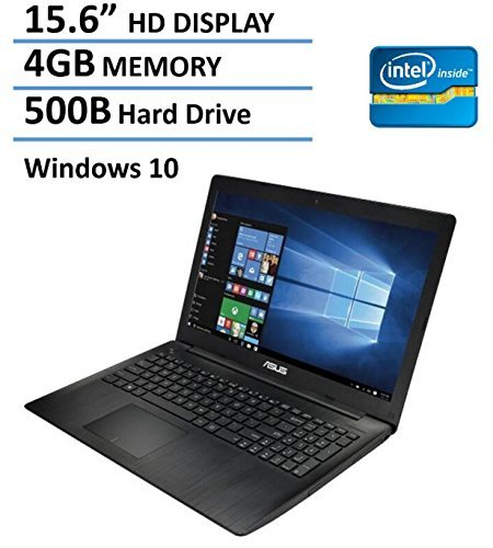 2016 Newest Edition Asus 15.6-inch Premium Laptop, Intel Dual-Core Celeron N3050 Processor, 4GB Memory, 500GB Hard Drive, SuperMulti DVD/CD burner, HDMI, Wifi, Webcam, Windows 10 64bit
