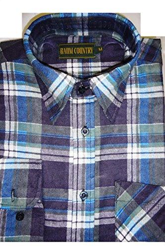 Herren Lumberjack Check Shirt Work Flanell, Baumwolle, bedruckt, nicht gewebt, Country Wear