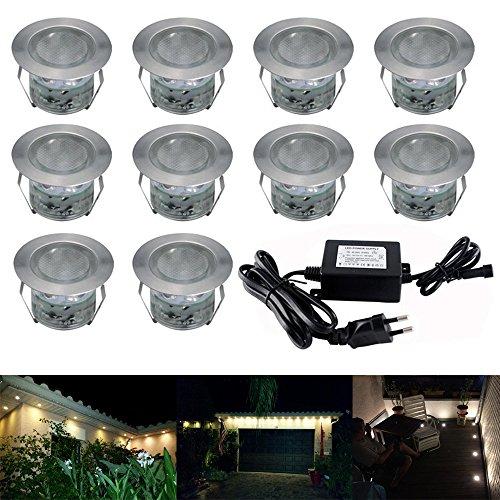 LED-Lampen-45mm-10er-Set-Treppen-Bodeneinbauleuchten-Aussen-Warmwei-IP67-Wasserdicht-Licht-Einbauleuchte-Terrasse-Kche-Garten-Led-Bodenstrahler