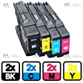 8x Brother LC1280 / LC1240 - C/Y/M/BK - Multipack Set of 8 Brother Compatible Ink Cartridges for Brother MFC-J6510DW MFC-J6710DW MFC-J6910DW MFC-J6950DW Printer Inks (Contains: 2x LC1280BK 2x LC1280C 2x LC1280Y 2x LC1280M)