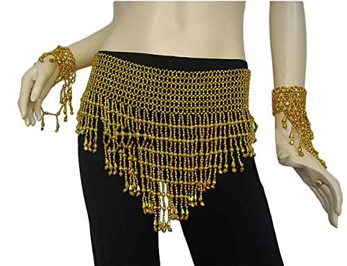 AveryDance Delicate Bell Bead Hip Scarf for Belly Dancing Costume