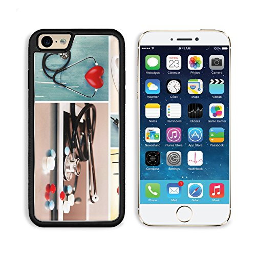 Apple iPhone 6 6S Aluminum Case Collage of medical images Cardiology concept IMAGE 34755691 by MSD Customized Premium Deluxe Pu Leather generation Accessories HD Wifi Luxury Protector