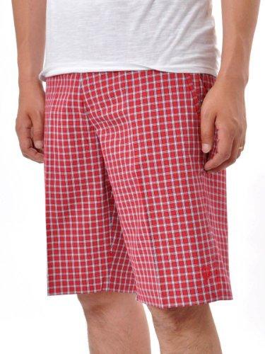 Ben Sherman Mens MC6213 Tailored Plaid Shorts Red W34