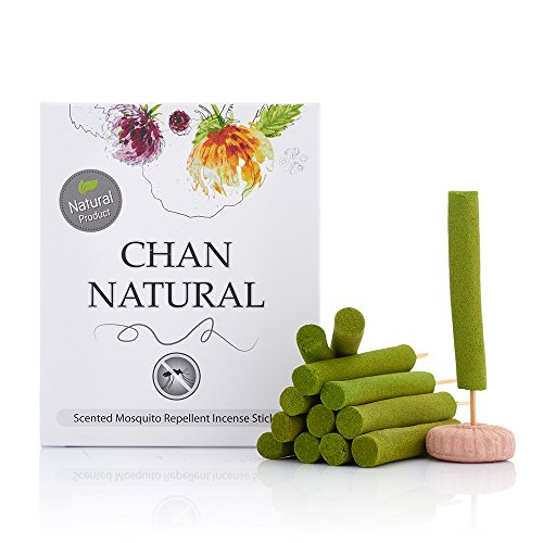 Scented Mosquito Repellent Incense Sticks by CHAN Natural-Harmless Plant Based Insect Protection-Keep Bugs Away-Traditional Aromatic Herbs, Citronella & Eucalyptus Oil-for Outdoor & Indoor Use (Can You Chan compare prices)