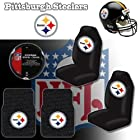 NFL Pittsburgh Steelers Car Seat Covers, Floor Mats and Steering Wheel Cover Set