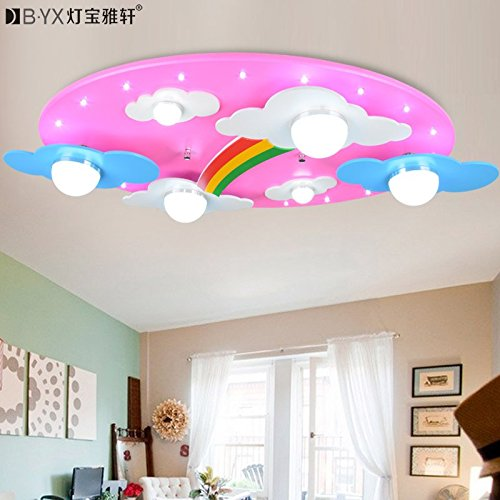 BL Modern European style Warm clouds Rainbow children's rooms lighting light LED ceiling lamp for boys and girls bedroom lamp cartoon 730400120mm , Pink,Ceiling Lamp (110-120V) (Ceiling Fans For Boys Rooms compare prices)