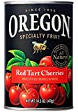 Oregon Fruit Products, Canned Fruits, 15oz Can (Pack of 3) (Choose Fruit Below) (Red Tart Pitted Cherries in Water)