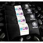 Namaste Yoga Unscented Eye Pillow – Black – Set of 4