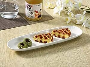 さんま皿(12.5号)/長皿/焼き魚皿/寿司皿/すし皿/おうちカフェ/業務用食器/白食器