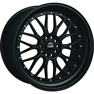 XXR 521 18 Flat Black Wheel / Rim 5x4.5 & 5x120 with a 25mm Offset and a 73.1 Hub Bore. Partnumber 52180142