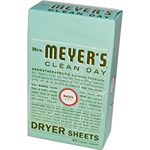 Amazon Com Mrs Meyers Clean Day Dryer Sheets Basil
