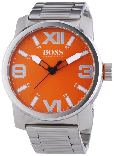Hugo Boss  Dubai - Reloj de cuarzo para hombre, con correa de acero inoxidable, color plateado