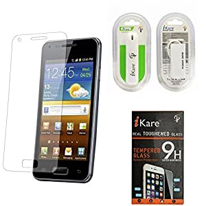iKare Pack of 6 Premium Shatter Proof Tempered Glass Ultra Clear Screen Protector for HTC New One M8 + 2600 mAh Power Bank