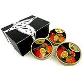 Cavendish & Harvey Orange Drops, 5.3 oz Tins in a BlackTie Box (Pack of 3)