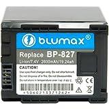 Blumax Li-Ion Ersatzakku für Canon BP-827 (7,4 V, 2400 mAh)