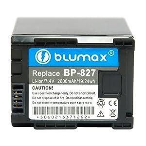 Blumax Batterie li-ion type Canon BP-827 7,4 V, 2400 mAh (Import Allemagne)