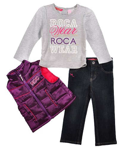 "Rocawear ""Foxy Since 1999"" 3-Piece Outfit (Sizes 12M - 24M) - purple, 24 months"