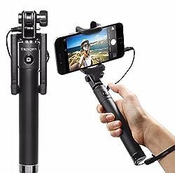 Selfie Stick Wired, Spigen® [New Generation] Selfie Stick with Remote Shutter for Nexus 5x/Nexus 6P/ iPhone 6S/6S Plus/6/6 Plus/5S, Galaxy Note 5/S6 Edge Plus & More (SGP11799)