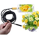 A99 6LED 7.0mm Lens Waterproof Endoscope Inspection Borescope Tube Wired Camera For Android PC(length:5m)
