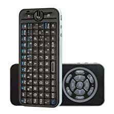 buy Tnp Mini Wireless Keyboard 2.4Ghz Fly Air Mouse With 2 Mode Learning Ir Remote And Backlight (Black) For Apple Tv Box And Google Tv Top Box