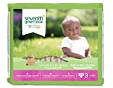 Seventh Generation Free & Clear Diapers, Size 3,  62 Count