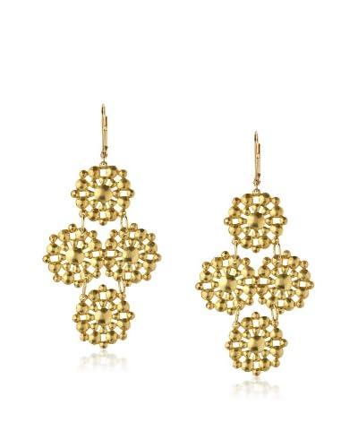 We Dream in Colour Grand Leila Earrings, Gold