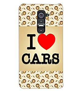 LG G2 I LOVE CARS Back Cover by PRINTSWAG