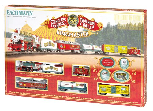 Bachmann Industries Ringling Bros. And Barnum & Bailey Ringmaster Ho Scale Rtr Electric Train Set front-158180