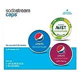 SodaStream - Pepsi HomeMade Drink Mix Caps Variety Pack, 16 Count (Includes: 8 - Regular Pepsi, 4 - Pepsi Wild Cherry, 4 - Sierra Mist)