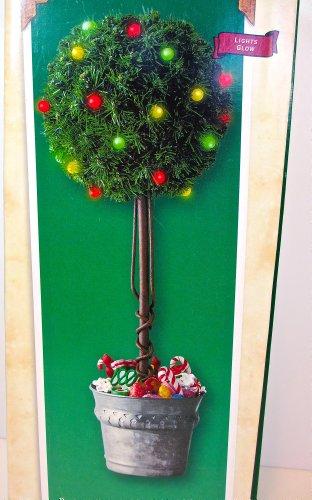 Hallmark - Sugar Plum Tabletop Topiary - Lighted Display Tree for Miniature Ornaments, QXM4506