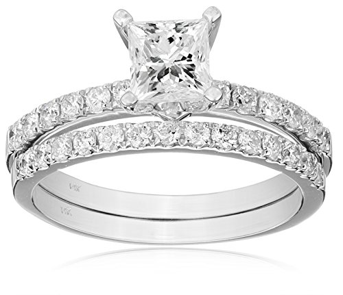 Kobelli-Je-Taime-Princess-and-Round-Diamond-Wedding-Ring-Set-150-cttw-H-I-Color-I1-I2-Clarity