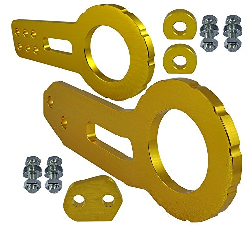 JDM TOW HOOK Racing CNC Aluminum Style GOLD Color with Front & Back Kit (Ford Expedition Tow Hook compare prices)