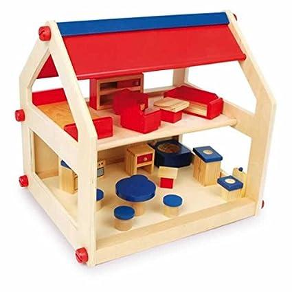 Jouetprive-Maison de poupée en bois Rosita