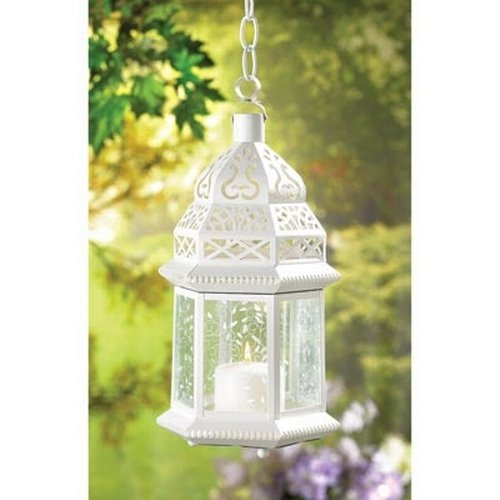 Moroccan lanterns wedding decorations wedding reception decoration ideas large white moroccan lantern junglespirit Gallery
