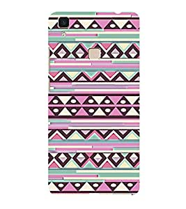 ifasho Designer Phone Back Case Cover Vivo V3 ( Cute Owl Heart Balloon )