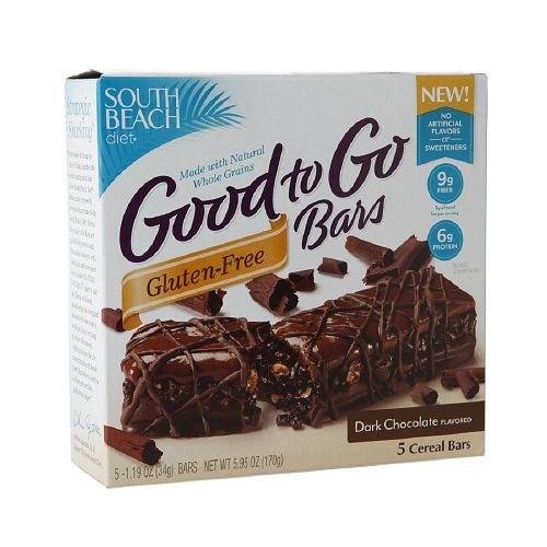 South Beach Diet Good To Go Bars, Gluten-Free, Dark Chocolate 5 Ea (Pack Of 3)