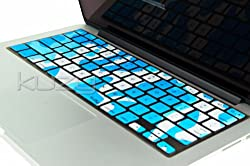 Kuzy - ARMY AQUA BLUE Camouflage Keyboard Silicone Cover Skin for MacBook Pro 13
