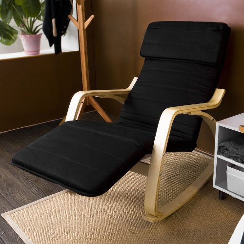 Comfortable Relax Rocking Chair with Foot Rest Design, Lounge Chair ...