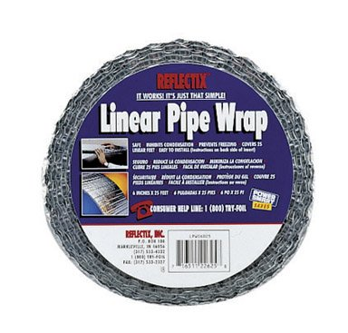 Reflectix SPW0402512 4-Inch by 25-Feet Spiral Pipe Wrap