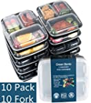 [10 Pack]3 Compartment Meal Prep Food...